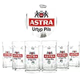Astra Bier Gläser 6x0,4l Staufeneck Seidel Glas geeicht ~mn 211 7f2m
