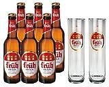 Früh Kölsch Set - 6x Früh Kölsch Bier 0,33L (4,8% Vol) + 2x Biergläser/Stangen 0,2L -[Enthält...