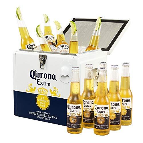 Corona Corona Extra Coolbox - Kühltruhe mit 12 Flaschen internationales Premium Lagerbier,...