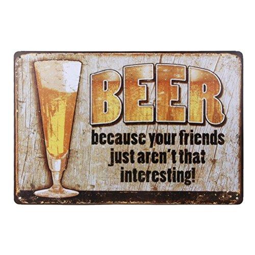 ROSENICE Retro Blechschild Metall Bar Vintage Bier-Poster der Welt Wanddekoration Kollektion