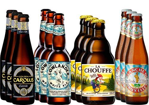 Kräuter- und Gewürzbier Bier Paket mit 12 Bieren - Gouden Carolus Classic + La Chouffe + Blanche...