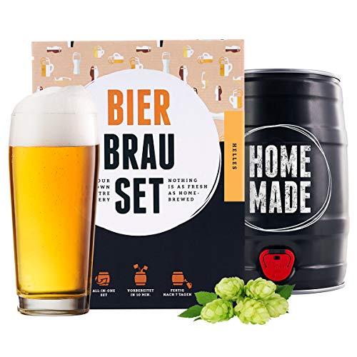 braufaesschen Bierbrauset zum selber Brauen | Helles im 5L Fass | Leckeres Bier In 7 Tagen gebraut |...