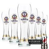 6 x Erdinger Stadtsilhouette Weizenbierglas 0,5l Glas/Gläser, Markenglas, NEU + anygoods...