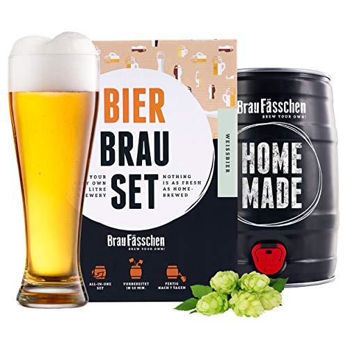 braufaesschen | Bierbrauset zum selber brauen | Weißbier im 5L Fass | In 7 Tagen gebraut | Tolles...