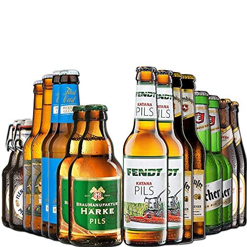 BierSelect Pils Paket - Geschenk Bierpaket - 16 verschiedene Pils Biere, Geschenk und tolle...