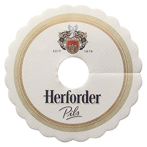 Herforder Pils Tropfendeckchen Bier Glas Pilsdeckchen Papierkragen Schaum Fänger Papier Lätzchen...