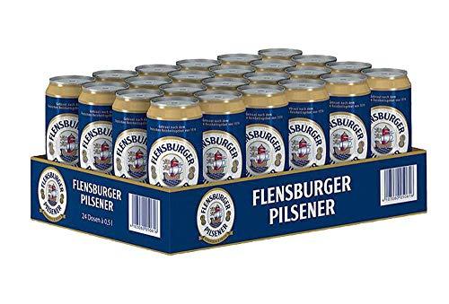 Flensburger Pilsener, Dosenbier aus Norddeutschland (24 x 0,5l) inkl. 6,00 € DPG Pfand EINWEG