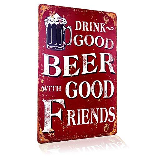 Blechschild Retro Bier Geschenk Magnet-Metall-Schild mit Sprüchen vintage lustige Türschilder Bier...