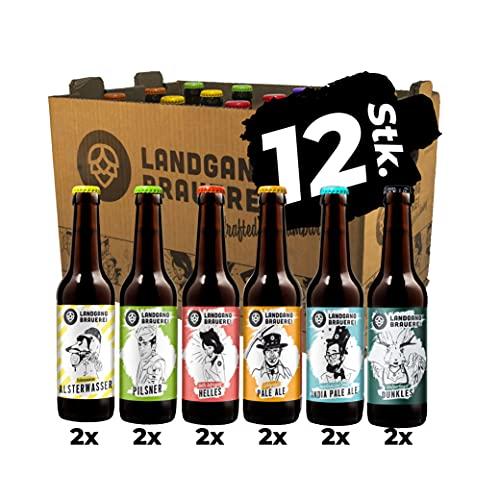 Landgang Brauerei - Craft Bier Mix - 12er Karton (12 x 0,33l)