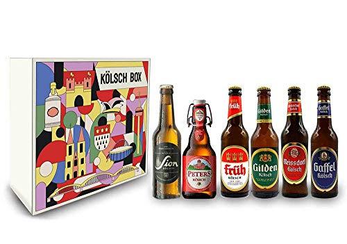 Kölsch 6er Bier Set - Sion (4,8% Vol.) + Gaffel (4,8% Vol) + Früh (4,8% Vol.) + Gilden (4,8% Vol.)...