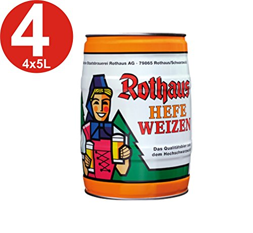 4x Rothaus Hefeweizen 5 L Partyfass5,4% vol