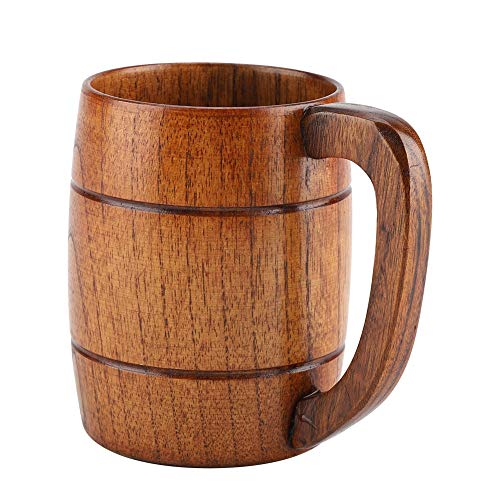 Fdit Holz bierkrug, Biergläser, Holzbierschale Retro Bier Geschenk Teewasser Classic...