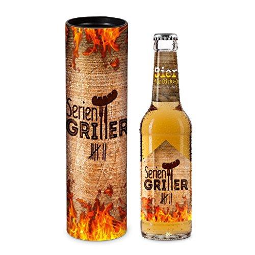 Bier Geschenk für Männer 0,33 l 'Seriengriller' 406457