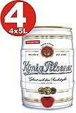 4x König Pilsener 5 Liter Partyfass 4,9% vol