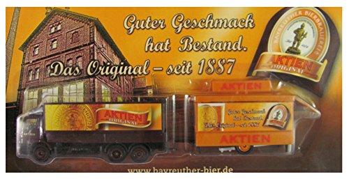 Bayreuther Bierbrauerei Nr.14 - Guter Geschmack hat Bestand - MB Atego - Hängerzug mit Schankwagen