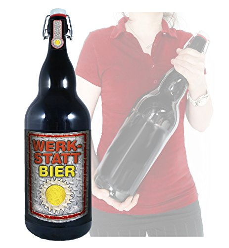 Werkstatt Bier - 3 Liter XXL-Flasche Bier mit Bügelverschluss