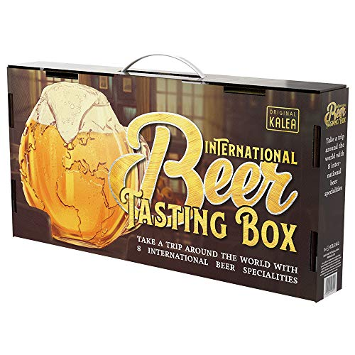 International Beer-Tasting-Box | Bierspezialitäten aus aller Welt | 8 x 0,33 L | Geschenk-Idee für...