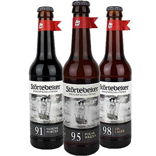 Störtebeker Brauerei - 3er EISBIER SET - Craft Beer - je 0,33l - von.BierPost.com