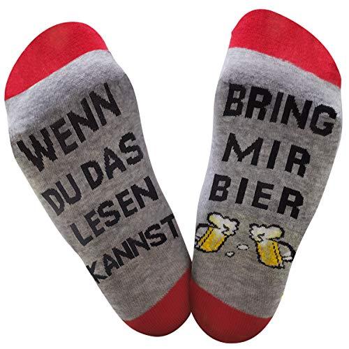 Dealswin Neuheit Socken Lustiges Geschenk: Wenn Du das Lesen Kannst Socken, bring mir Bier Socke...