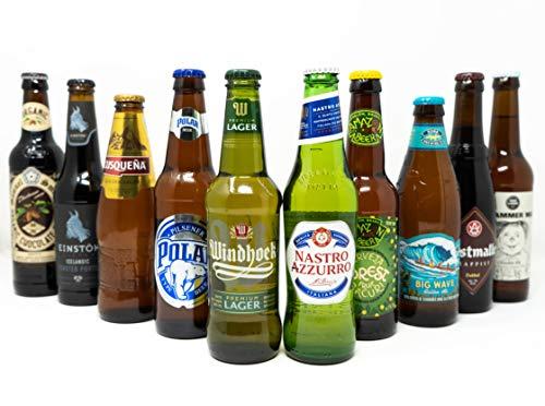 10 Biere aus 10 Ländern - Bierweltreise Set - Variation aus außergewöhnlichen Bieren aus aller...