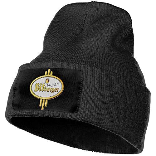 Bitburger Bier Winterhüte Strick Slouchy Beanie Warmer Hut Baggy Skull Cap Schwarz