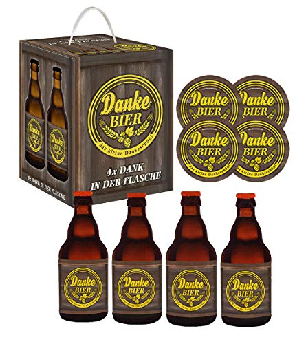 Bierwürfel Danke Bier mit 4 Sammler Bierdeckel