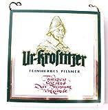 Ur Krostitzer Brauerei - Feinherbes Pils - Zapfhahnschild 9,5 x 9,5 cm