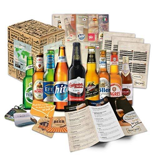 BOXILAND - Bier-Männergeschenk in Präsentverpackung (9x0,33l) als Geschenkidee zum Vatertag,...