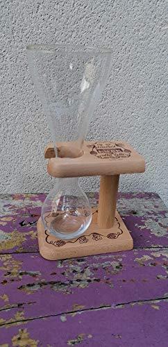Set mit 1 Glas 33 cl Bier Kwak + Halterung aus Holz