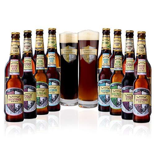 Brauerei Zwönitz ProBierPaket/Bier Set mit 16 Bieren + 2 Gläsern/Beer Tasting Box/verschiedene...