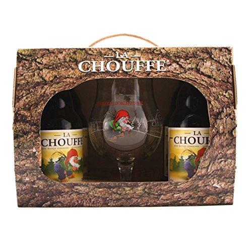 la Chouffe Geschenkbox 4x La Chouffe 33cl + Glas