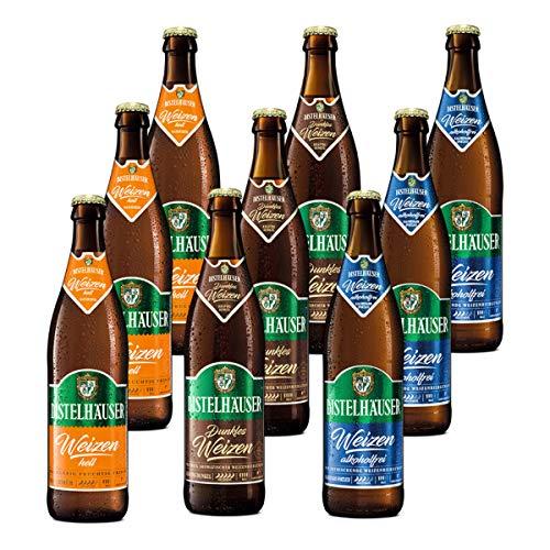 Distelhäuser Bierpaket Dunkles Weizen, Weizen hell und Weizen alkoholfrei, 9 Flaschen