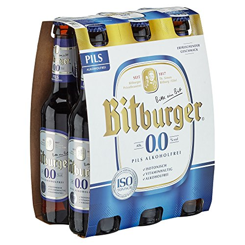 Bitburger 0.0% Pils Alkoholfrei Mehrweg (6 x 0.33 l)