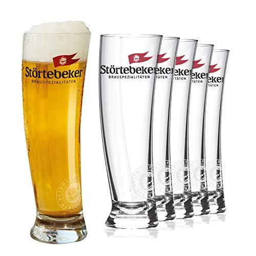 Störtebeker Biergläser 0,3 l | 6 Weizengläser im Sydney Segelglas Design | Weizenbiergläser 0,3...