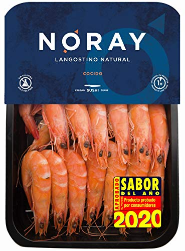 White Tiger NORAY® Shrimp, COOKED, FRESH & never frozen, 40/60 pieces per kg, packed in 1kg box