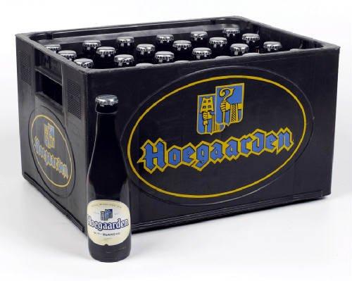 Original belgisches Bier - Hoegaarden (Ohne Kasten) weiß 24 x 25 cl. Karneval und Party!!