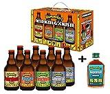 Heimwerkers Werkzeugkiste im 8er Bier-Geschenkkarton mit Augenmaß Snack 0,1l Kräuter Flachmann