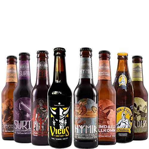 Wikinger Bierpaket von BierSelect - Craft Beer Paket - 8 Flaschen in einem Paket, Bier Geschenk...