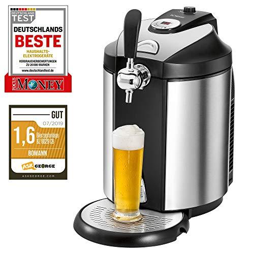 Bomann BZ 6029 CB Bierzapfanlage für alle handelsüblichen 5 Liter-Partyfässer, LED-Display zur...