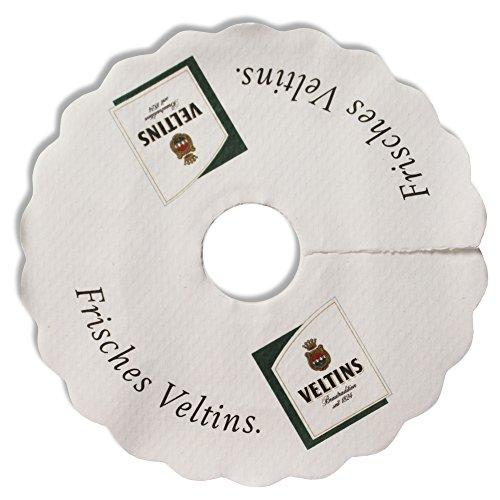 Veltins Tropfendeckchen Bier Glas Pilsdeckchen Kragen Schaum Fänger Papier Lätzchen Manschette...