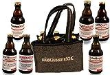 QUATSCHmanufaktur Männerhandtasche/gefüllt mit 6 Bierflaschen  / witzige...