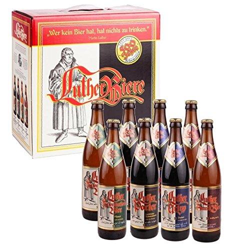 Luther Bier Mix Geschenkekarton 8 x 0,5l 2 Sorten Stark Urtyp Porter Luther-Bier
