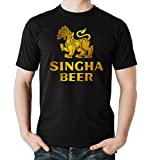 Certified Freak Singha Beer T-Shirt Black M