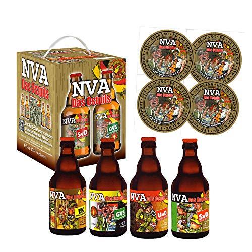 NVA Bierwürfel 4X0,33l mit 4 Sammler Bierdeckel