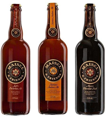 Maisel & Friends Tasting Paket (3 x 0,75 Ltr.) - Jeff´s Bavarian Ale + Stefan´s Indian Ale +...
