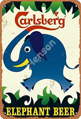 NOT Carlsberg Elephant Beer Zeichen Eisenmalerei Zinnwand Retro Eisen Persönlichkeit dekorative...