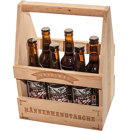 Spruchreif PREMIUM QUALITÄT 100% EMOTIONAL · Flaschenträger Holz Bier 6er Träger · Bierträger...