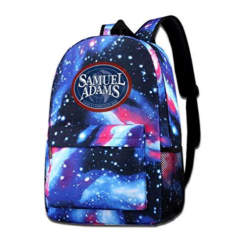 GYTHJ Starry Backpack Glaxy School Bag Samuel Adams Bier Logo Sternenrucksack