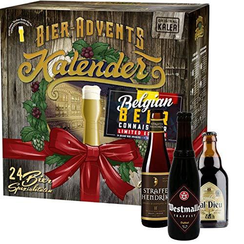 Belgien Bierkalender, 24 fruchtige Biere aus Belgien & 1 Verkostungsglas