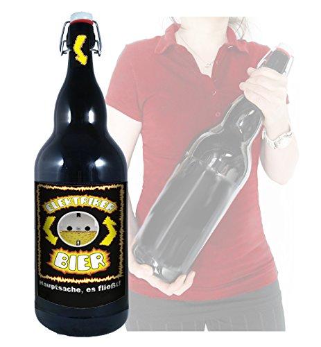 Elektriker Bier - 3 Liter XXL-Flasche Bier mit Bügelverschluss